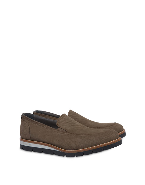 Madras print nubuck loafers GRAPHITE/GRAPHITE