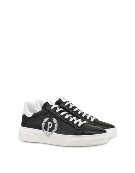 Pictogram moose print calfskin sneakers BLACK/WHITE