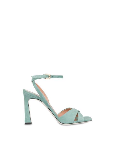 Cote d'Azur high sandals in suede MINT