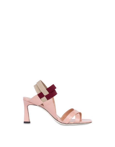 Greek Cross high patent leather sandals QUARTZ