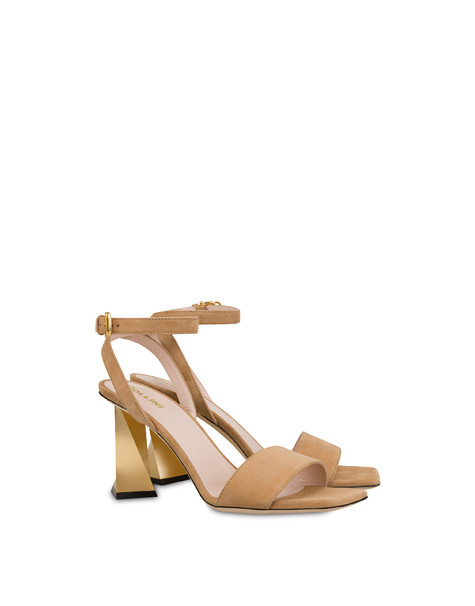 Twisted Column suede sandals SAND