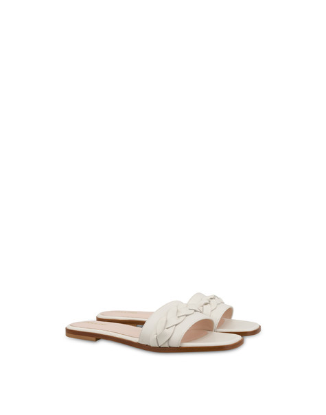 Aura flat sandals in calfskin MILK