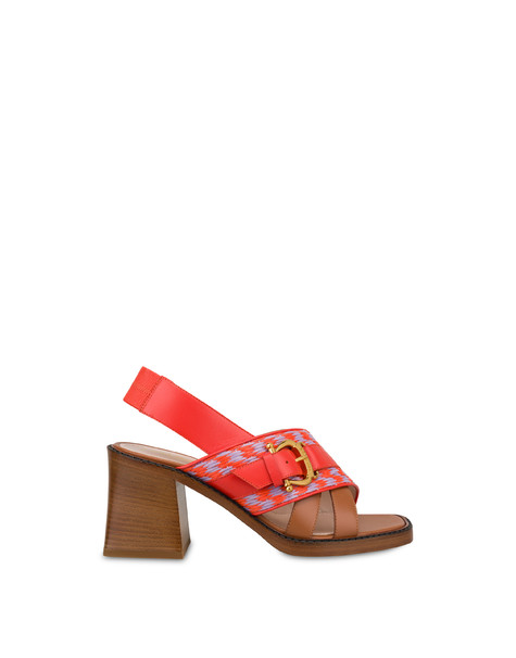 Buckle Notes calfskin sandals GERBERA-LAVENDER/GERBERA/HIDE
