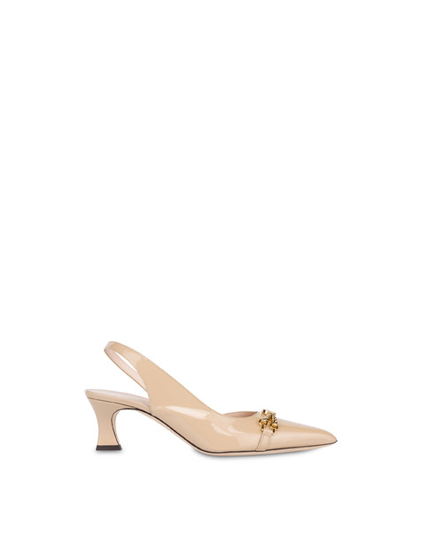 Aris patent leather slingback SAND