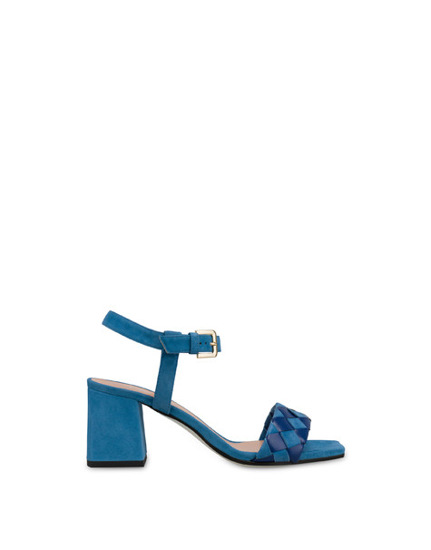 The Queen Of Chess suede sandals AZULEJOS/AZULEJOS
