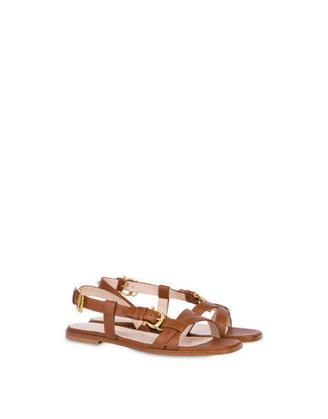 Buckle Notes flat sandals in patent leather HIDE
