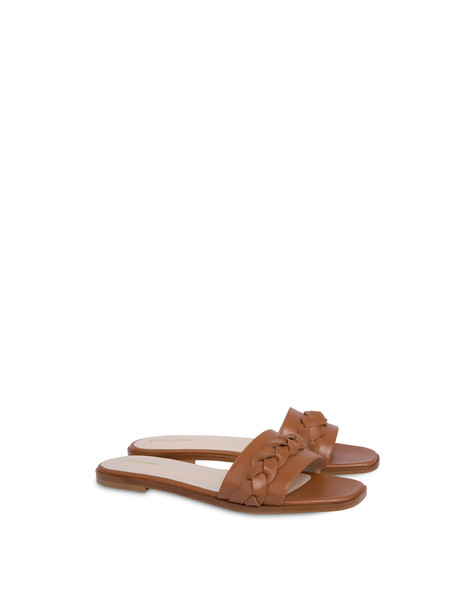 Aura flat sandals in calfskin HIDE