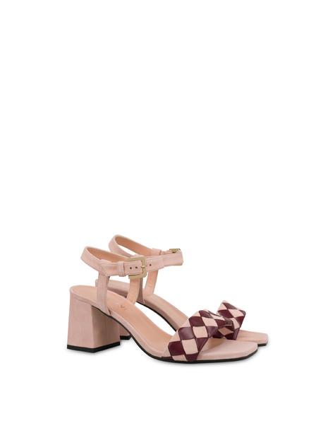 The Queen Of Chess suede sandals QUARTZ/RASPBERRY