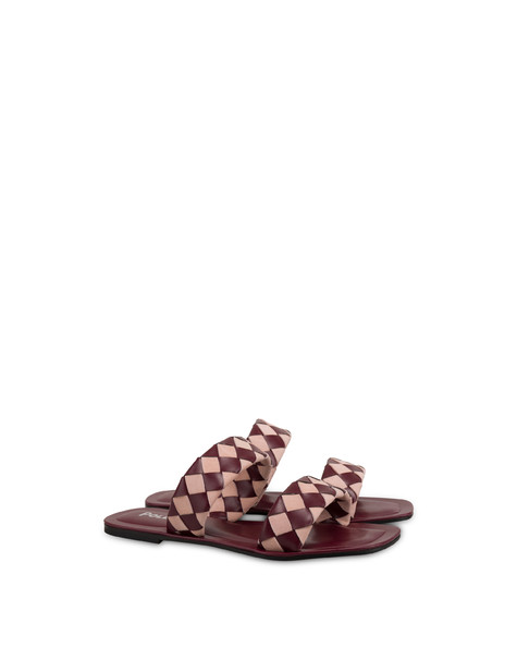 The Queen Of Chess flat sandals QUARTZ/RASPBERRY