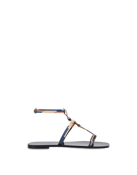 Between The Lines flat sandals BLACK-AZULEJOS-SAND-POWDER