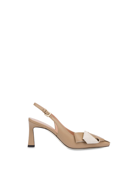 La Mer Rouge slingbacks in calfskin SAND/WHITE