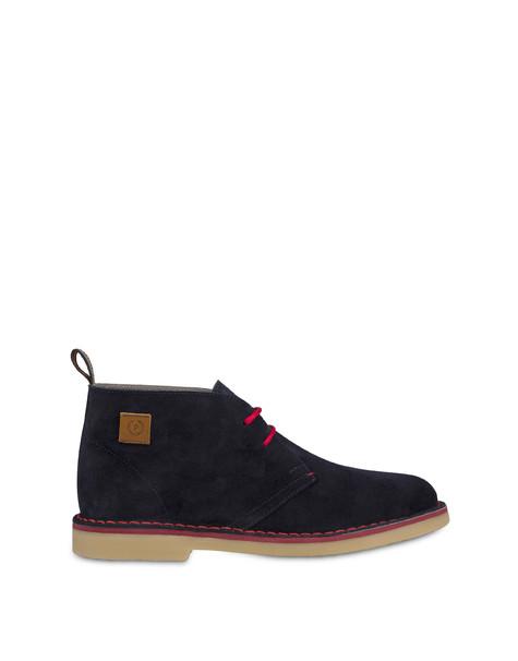 Samos desert boot in split-grain leather MEDITERRANEAN