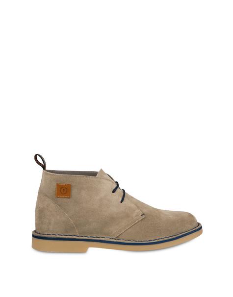 Samos desert boot in split-grain leather SAND