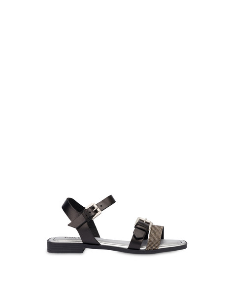 Islands cowhide sandals BLACK