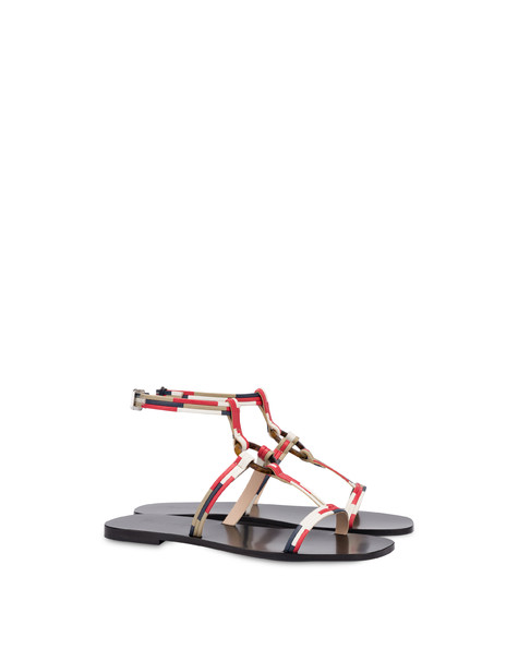 Between The Lines flat sandals MEDITERRANEAN-SAND-LAKY RED-WHITE