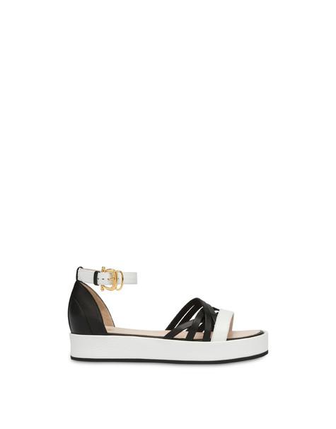 Pollini You Design flatform sandals WHITE/BLACK