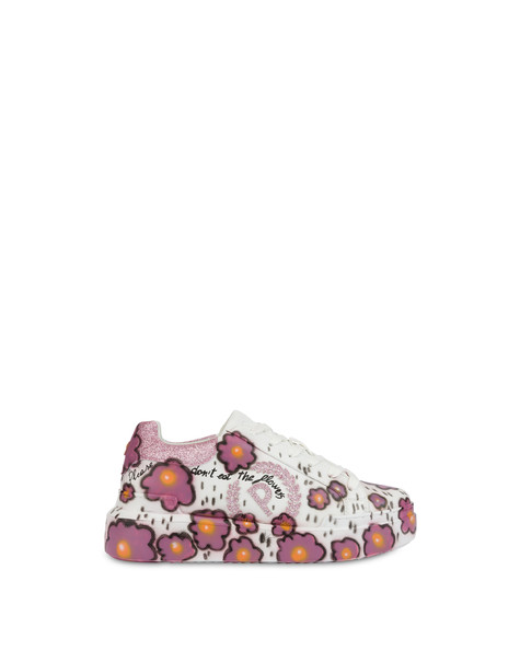 'Please don't eat the flowers' floral print sneakers