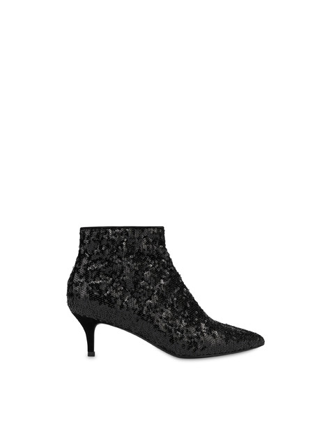 Waltzer Night quilted sequin ankle boots BLACK