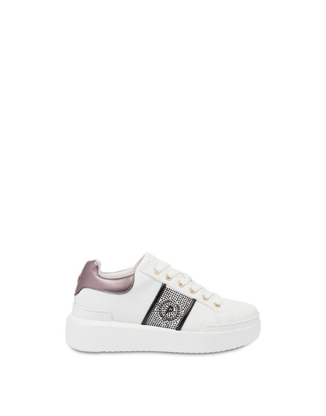 Sneakers Diamond Carrie con strass BIANCO/FUCILE
