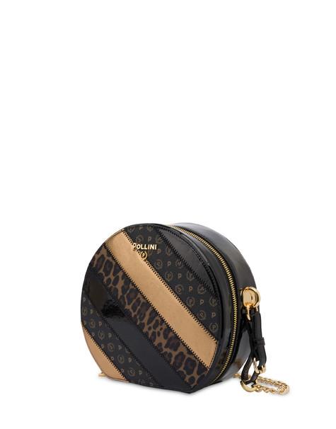 Royal Boiserie patchwork crossbody bag BLACK/BLACK/LEOPARD/BRONZE