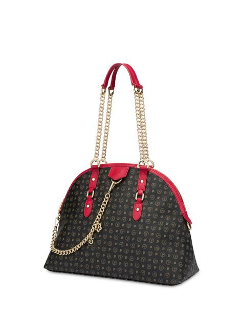 Heritage Logo Classic shoulder bag BLACK/LAKY RED