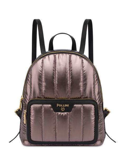 Shiny Tank metallic nylon backpack GUN/BLACK
