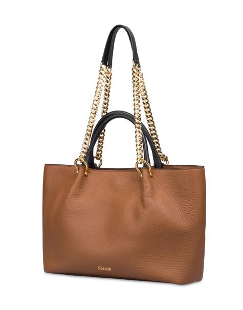 Shopping bag in Marlene calf leather HIDE/BLACK