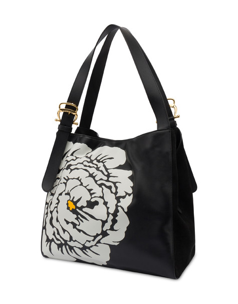 Shoulder bag in Anemone calf leather BLACK/BLACK