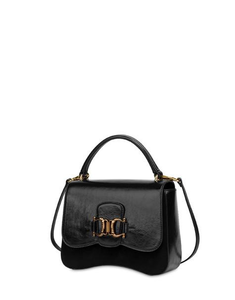 Handbag in naplak and Natalia leather BLACK/BLACK
