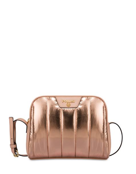 Crossbody bag in metallic nylon Shiny Tank COPPER/OLD ROSE