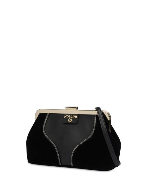 Karluv Most Shiny velvet clutch BLACK/BLACK