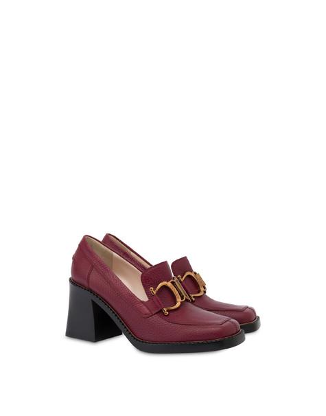 Natalia high heel moccasins WINE