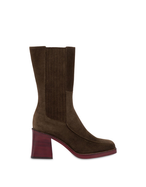 Marlene leather ankle boots STONE