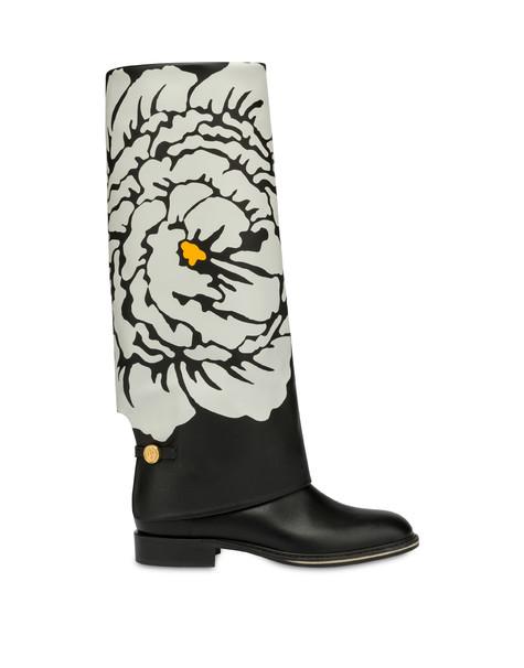 Stivali in vitello Anemone NERO-AVORIO