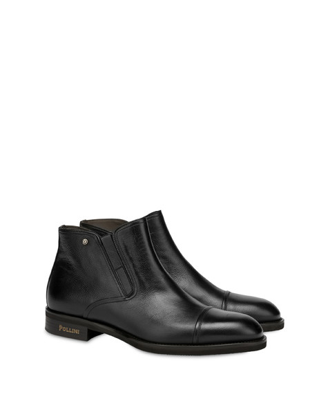 Gentlemen's Club calf leather ankle boots BLACK