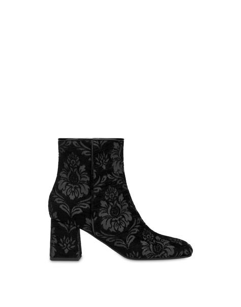 Orient's Allure damask ankle boots BLACK