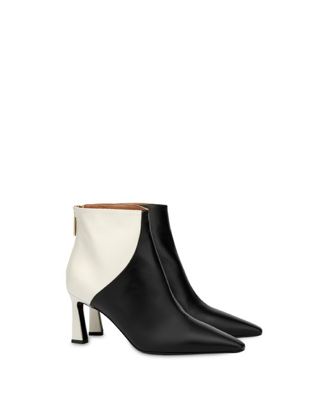Karluv Most two-tone calf leather ankle boots BLACK/PORCELAIN