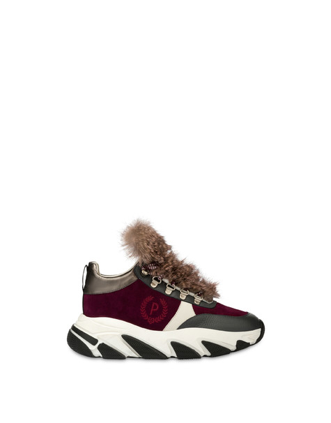 Sneakers with chunky hiking sole WINE/LONDON SMOKE/GUN/PORCELAIN/OLD ROSE