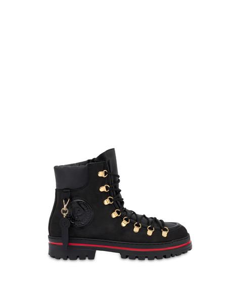 Pollini Ice Cracker boots in nubuck and calfskin BLACK/BLACK/BLACK