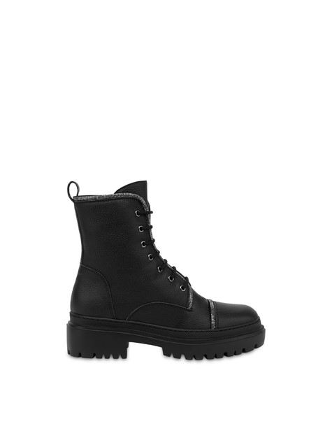 Karluv Most combat boot in calf leather BLACK
