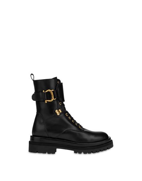Combat Boot in Balkan calf leather BLACK