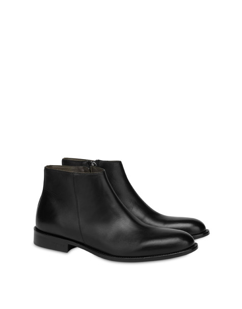 1920s calf leather ankle boots BLACK
