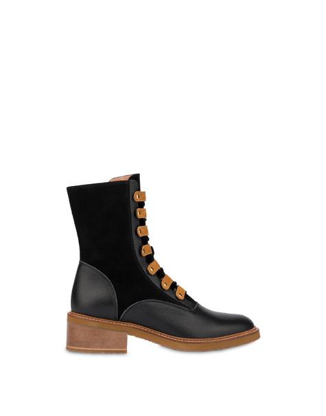Uniform split leather boots BLACK/BLACK/WAFER
