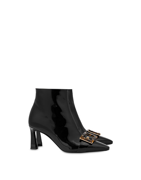 Grand Budapest Hotel patent leather boots BLACK