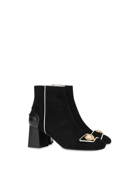 Queen suede boots BLACK/PORCELAIN/BLACK