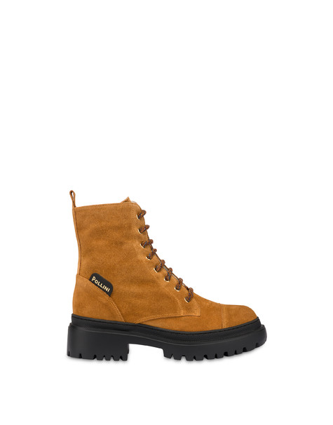 Combat boot in Mountain Forest split leather WAFER