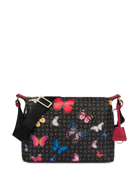 Borsa a spalla Heritage Butterfly Collection NERO/ROSSO
