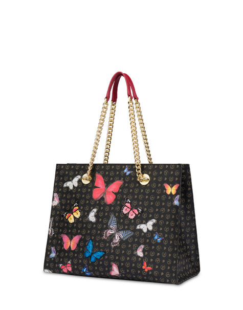 Heritage Butterfly Collection shopping bag BLACK/RED