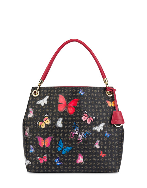 Heritage Butterfly Collection hobo bag BLACK/RED
