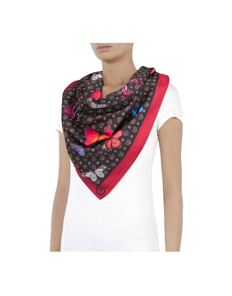 Heritage Butterfly Collection scarf BLACK/RED